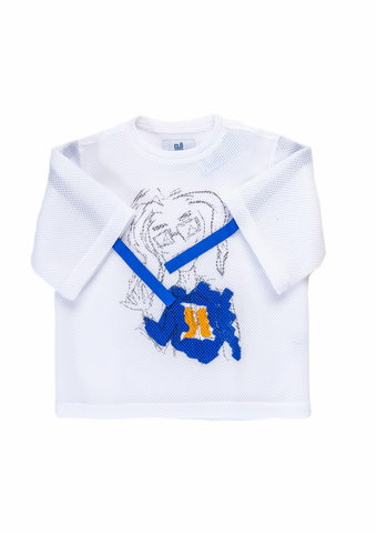 CLD x Thebe Magagu Basketball T-shirt- White