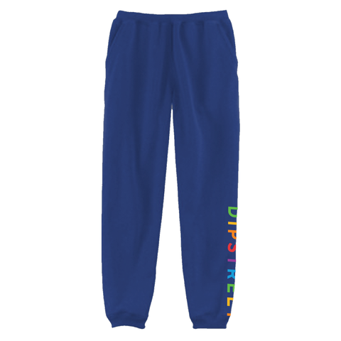 DIPSTREET RAINBOW SWEATPANTS - BLUE