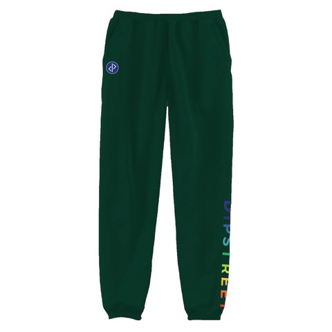 DIPSTREET RAINBOW SWEATPANTS - GREEN