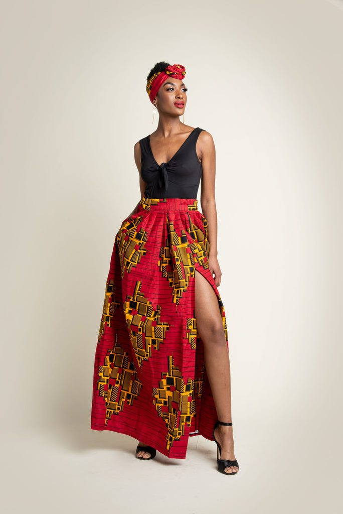 'TOYIN' maxi skirt & Head wrap