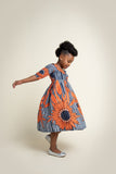 'Nma' Little girls wrap dress