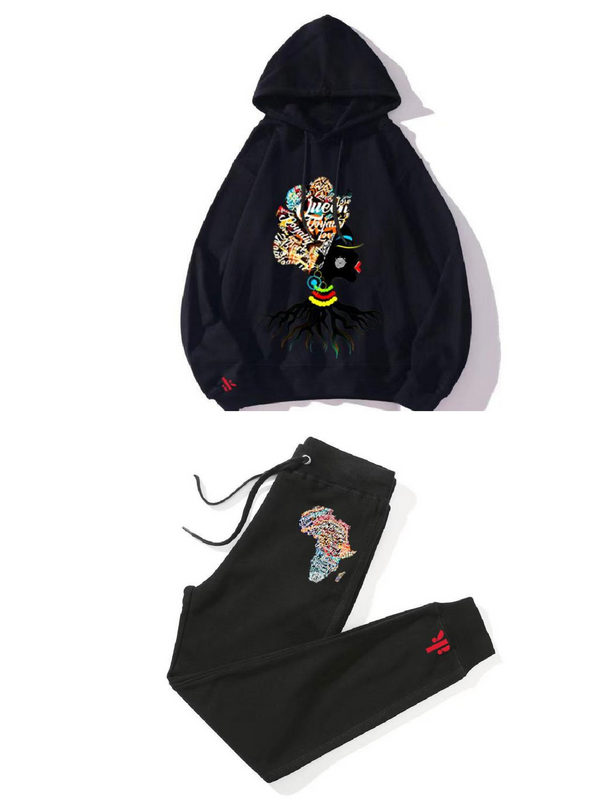 ORLU hooded pullover & Jogger set (BLACK)