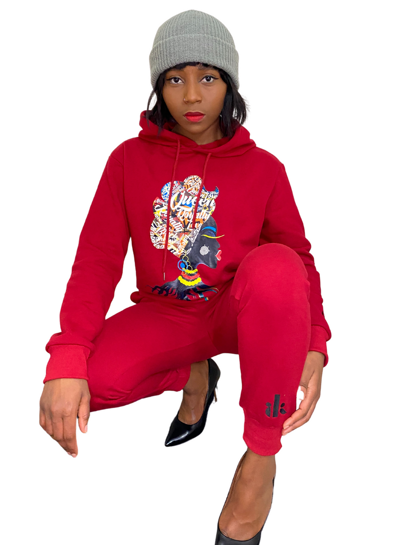 ORLU hooded pullover & Jogger set (RED)