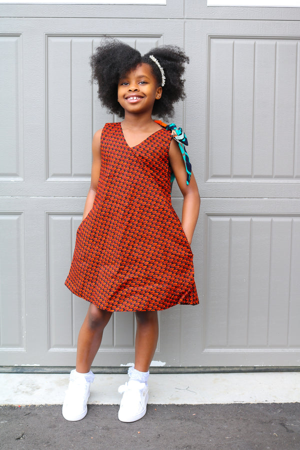 Elota little girls dress (Look 1)