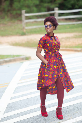 """IJE' wrap dress"