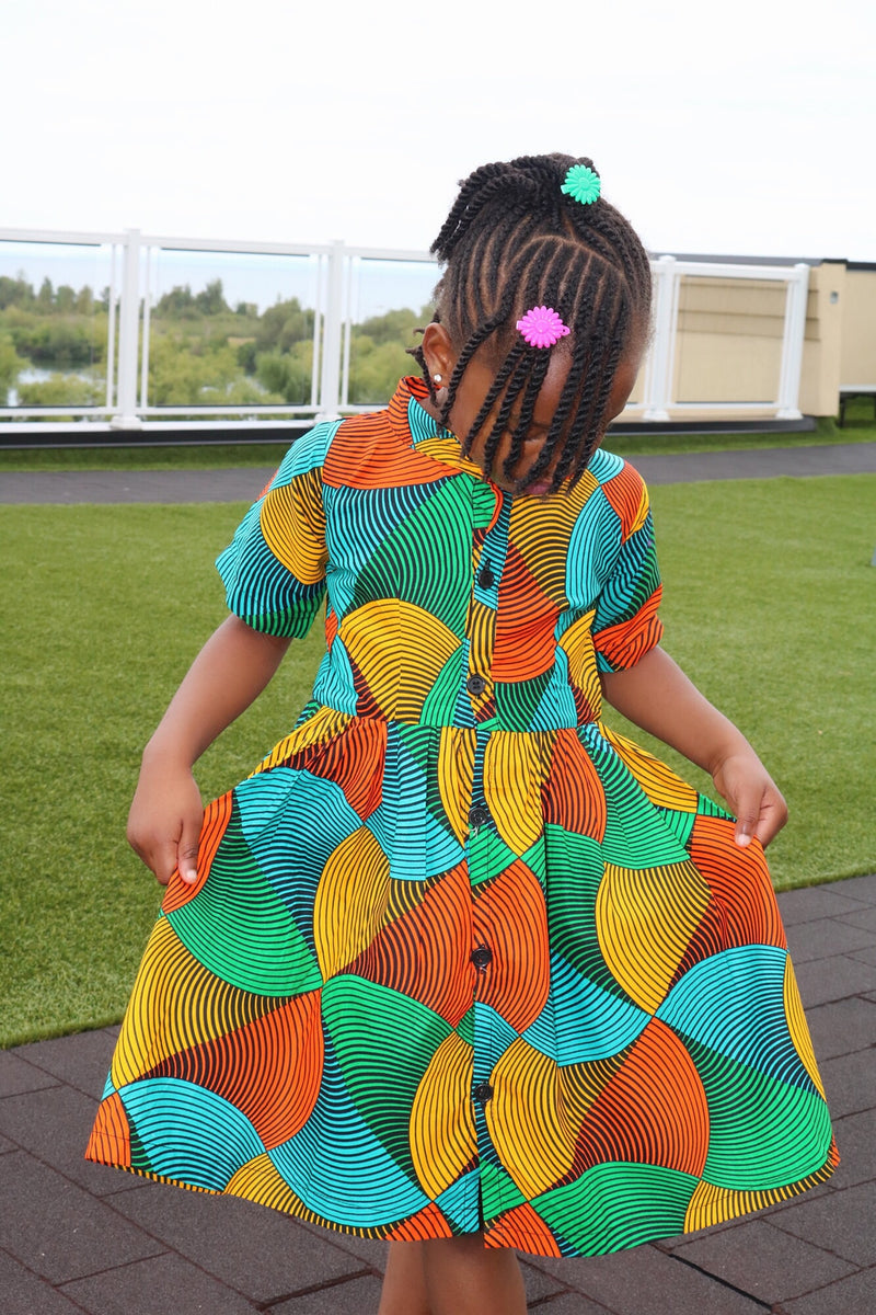 Omoye little girls dress