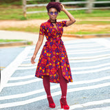 CHAKA hi lo shirt dress