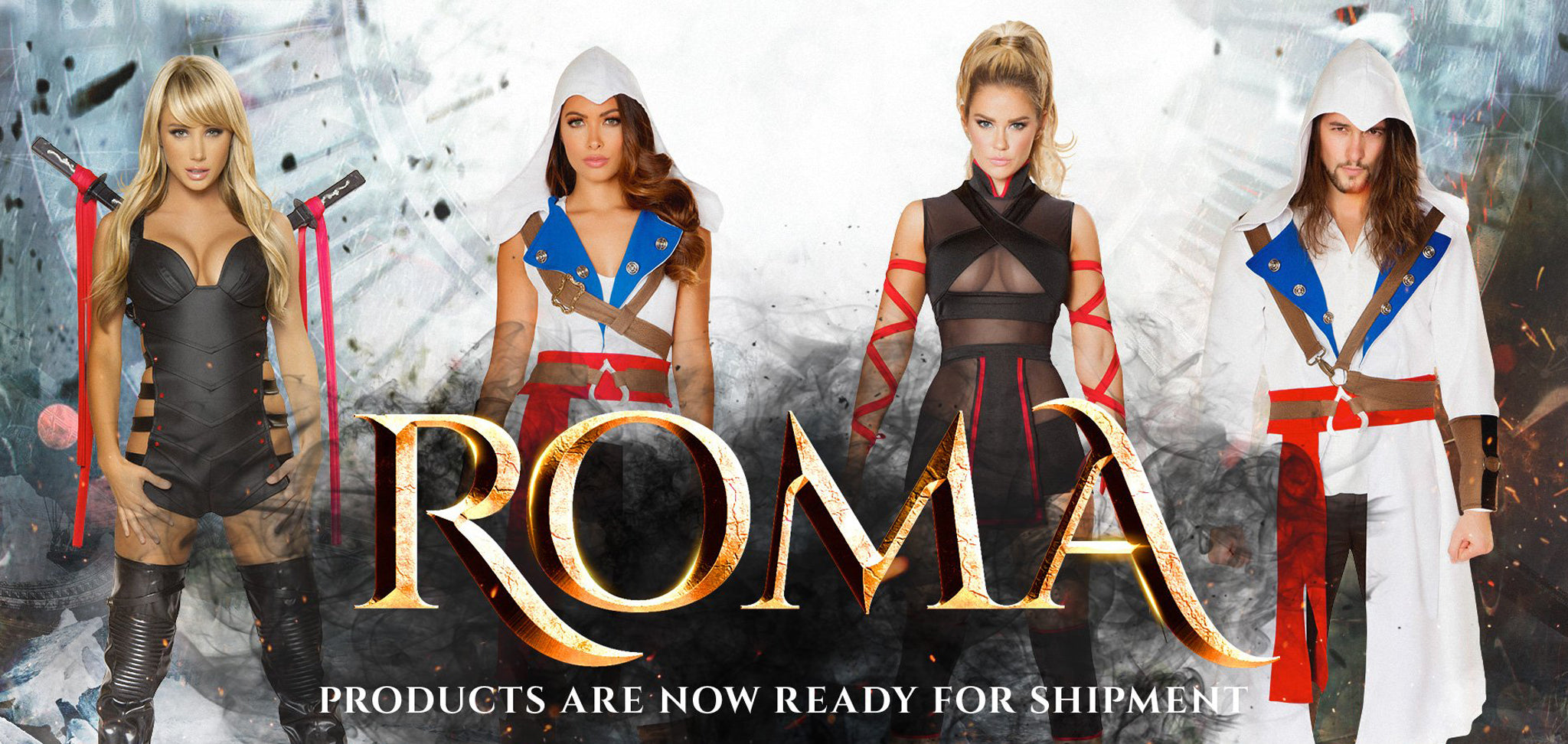 Roma Costumes Halloween 2018 Ninja and Assassins Collection