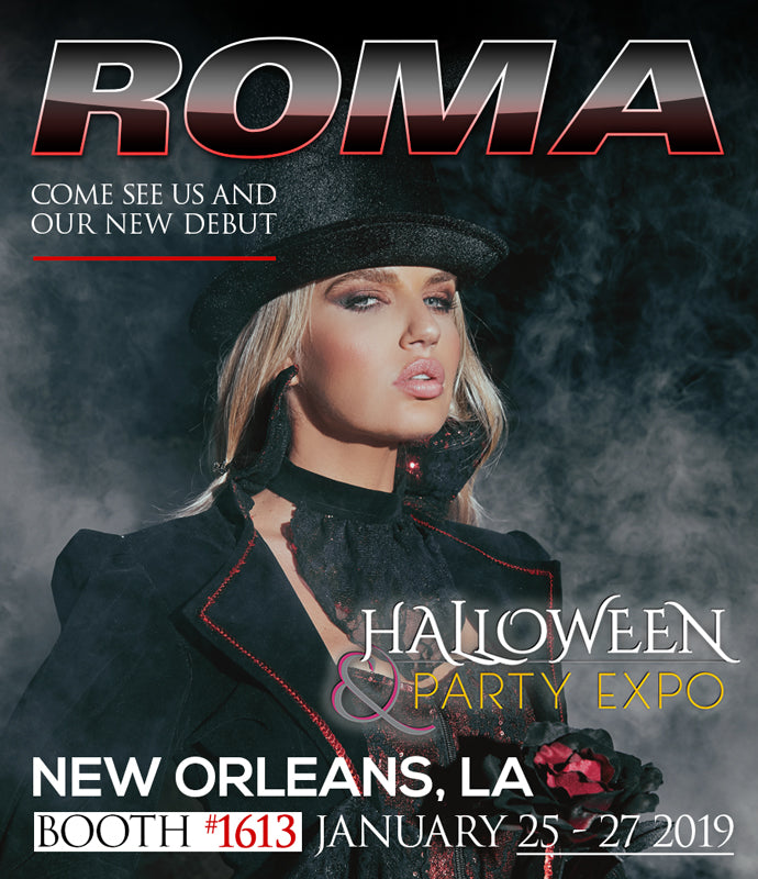 Roma at the Halloween and Party Expo in New Orleans