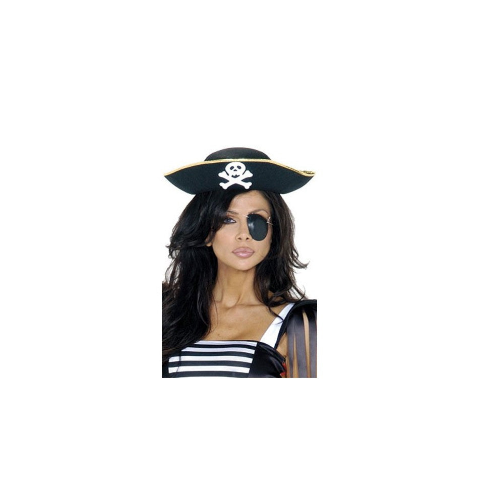 PH104 Pirate Hat ${description} | Roma Costume and Roma Confidential wholesale manufacturer of Women Apparel bulk world wide wholesale and world wide drop ship services for Adult Halloween Costumes, Sexy and Elegant Lingerie, Rave Clothing, Club wear, and Christmas Costumes. Accessories,Blowout Sale, Roma Costume, Inc., Roma Costume, Roma Confidential, Wholesale clothing, drop ship, drop ship service, Wholesale Lingerie, Wholesale Adult Halloween Costumes, Rave Clothing, EDM Clothing, Festival Wear, Christmas Costumes, Clubwear, Club wear.