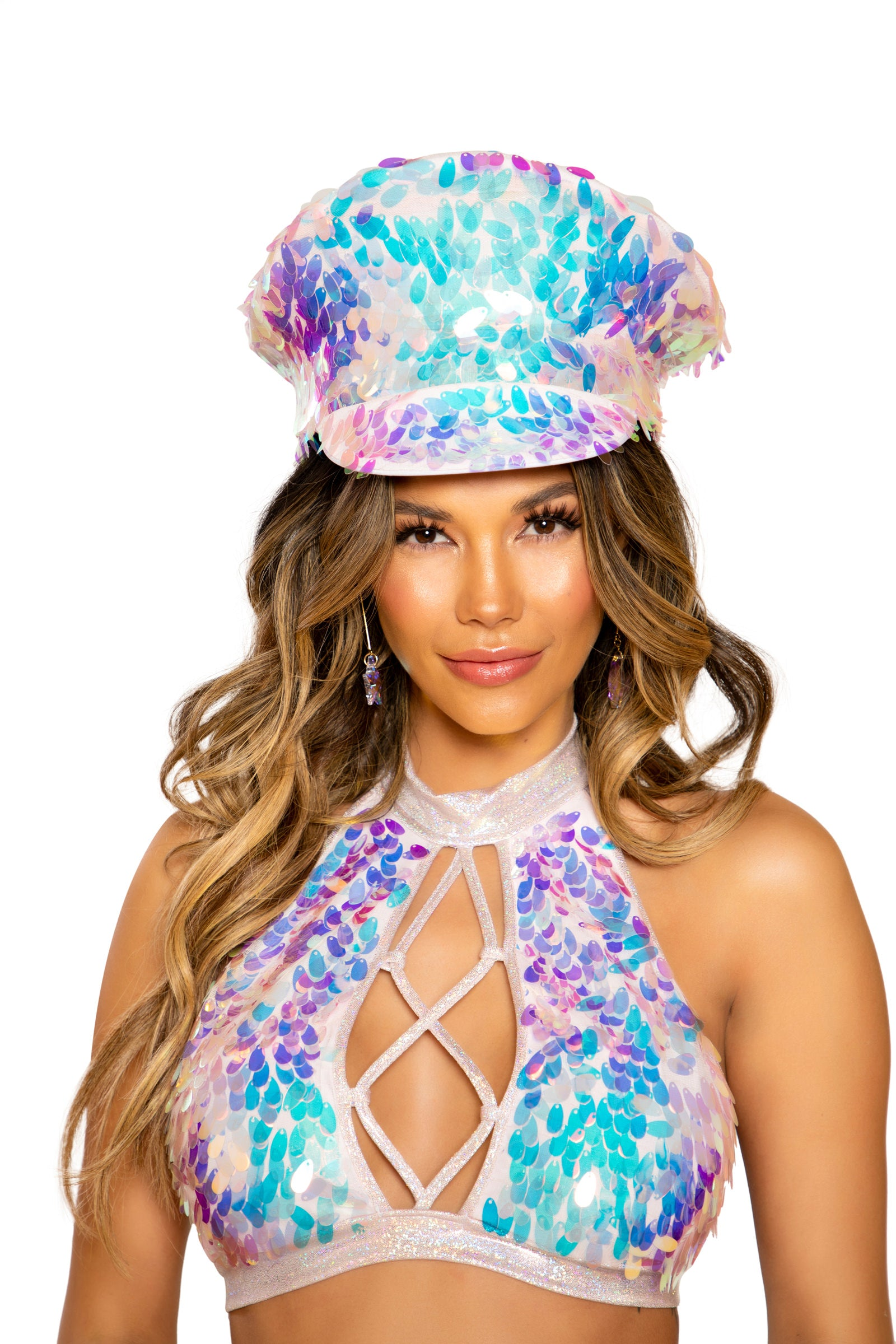 3668 - Tear Drop Sequin Hat