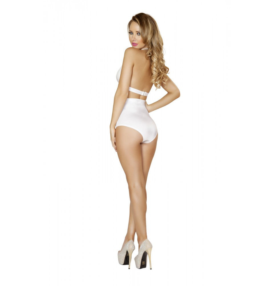 T3108 White Halter Top - Roma Costume Tops - 2