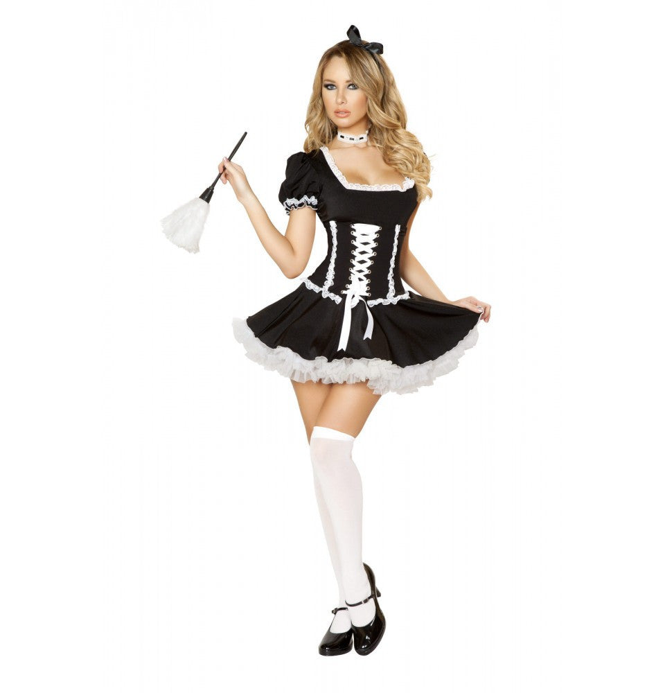4537 - 4pc Mischievous Maid Costume ${description} | Roma Costume and Roma Confidential wholesale manufacturer of Women Apparel bulk world wide wholesale and world wide drop ship services for Adult Halloween Costumes, Sexy and Elegant Lingerie, Rave Clothing, Club wear, and Christmas Costumes. New Products,Costumes,2014 Costumes, Roma Costume, Inc., Roma Costume, Roma Confidential, Wholesale clothing, drop ship, drop ship service, Wholesale Lingerie, Wholesale Adult Halloween Costumes, Rave Clothing, EDM Clothing, Festival Wear, Christmas Costumes, Clubwear, Club wear.