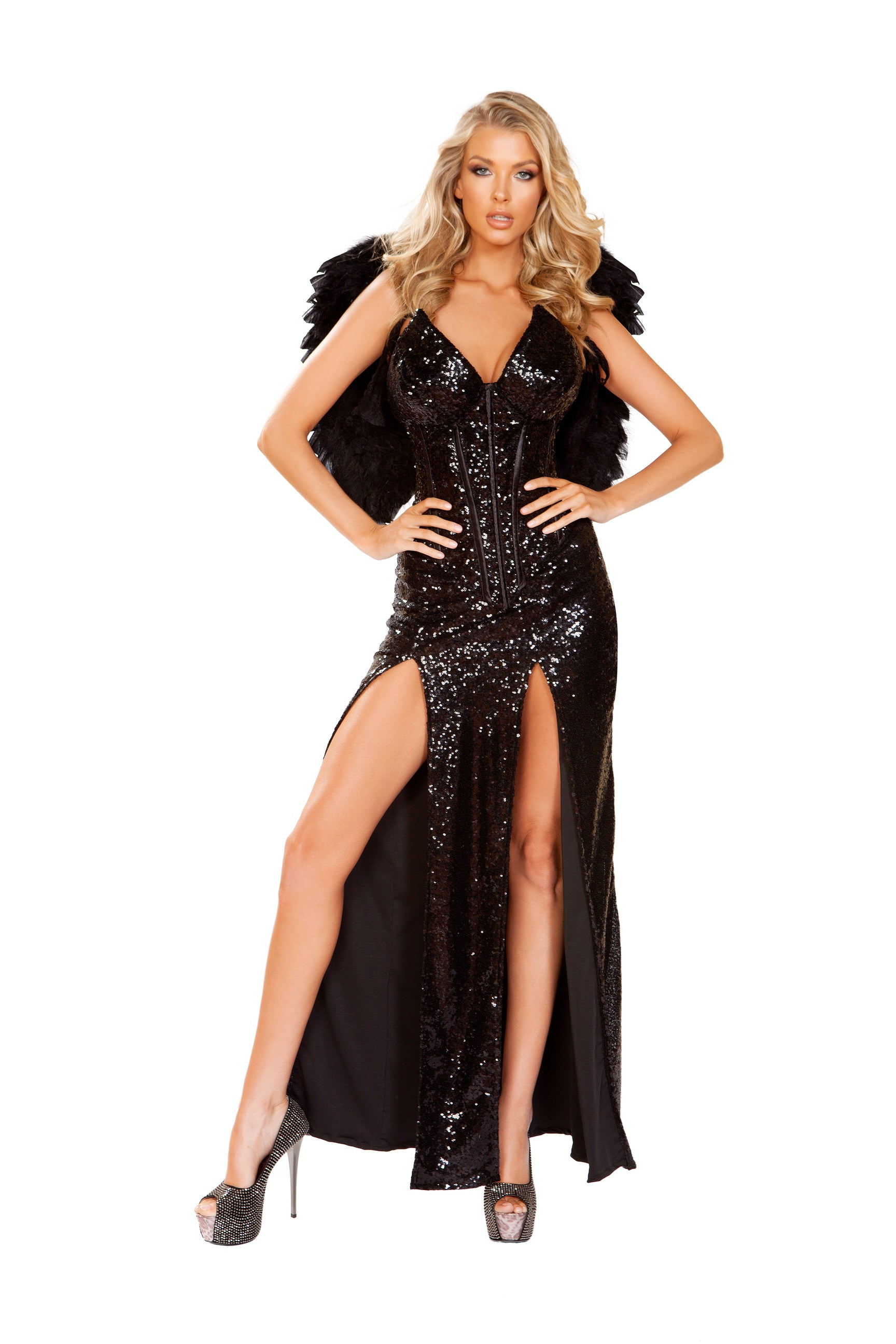 4912 - 2pc Wicked Dark Angel ${description} | Roma Costume and Roma Confidential wholesale manufacturer of Women Apparel bulk world wide wholesale and world wide drop ship services for Adult Halloween Costumes, Sexy and Elegant Lingerie, Rave Clothing, Club wear, and Christmas Costumes. Costumes, Roma Costume, Inc., Roma Costume, Roma Confidential, Wholesale clothing, drop ship, drop ship service, Wholesale Lingerie, Wholesale Adult Halloween Costumes, Rave Clothing, EDM Clothing, Festival Wear, Christmas Costumes, Clubwear, Club wear.