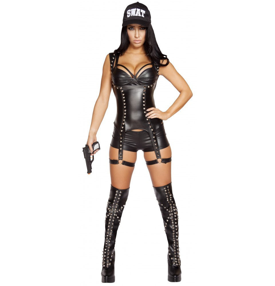 4587 - 3pc Seductive SWAT Agent ${description} | Roma Costume and Roma Confidential wholesale manufacturer of Women Apparel bulk world wide wholesale and world wide drop ship services for Adult Halloween Costumes, Sexy and Elegant Lingerie, Rave Clothing, Club wear, and Christmas Costumes. Costumes,New Arrivals,New Products, Roma Costume, Inc., Roma Costume, Roma Confidential, Wholesale clothing, drop ship, drop ship service, Wholesale Lingerie, Wholesale Adult Halloween Costumes, Rave Clothing, EDM Clothing, Festival Wear, Christmas Costumes, Clubwear, Club wear.