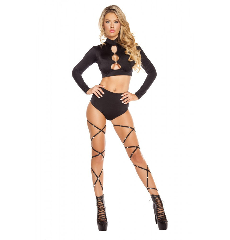 SH3193 - Black - High-Waisted Shorts - Roma Costume New Arrivals,New Products,Shorts
