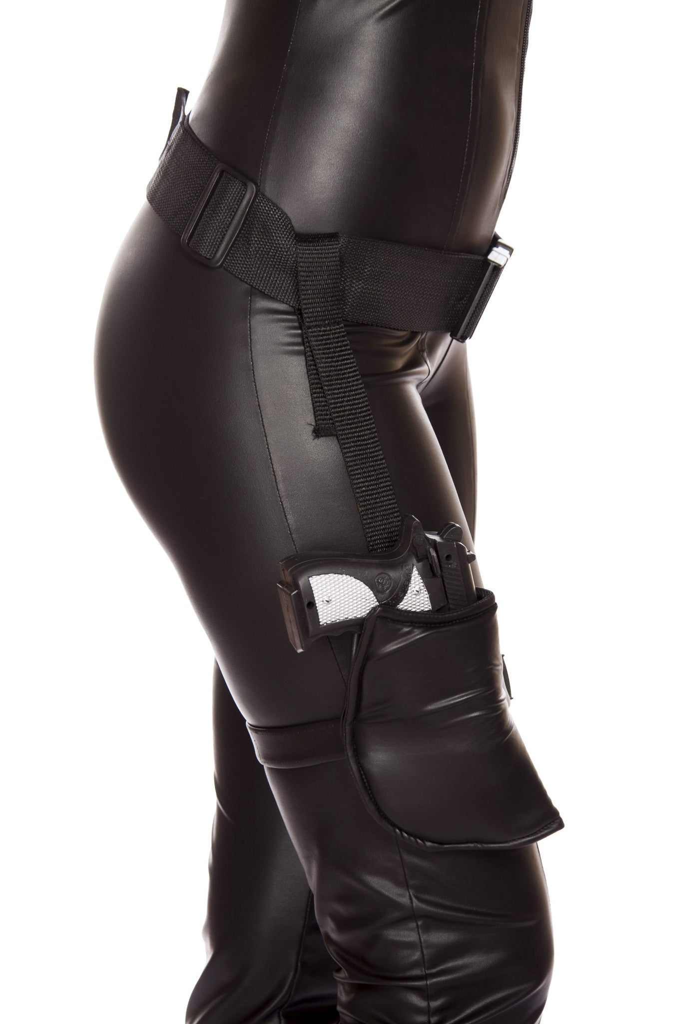 G4570 Leg Holster with Connected Belt (Gun Not Included) ${description} | Roma Costume and Roma Confidential wholesale manufacturer of Women Apparel bulk world wide wholesale and world wide drop ship services for Adult Halloween Costumes, Sexy and Elegant Lingerie, Rave Clothing, Club wear, and Christmas Costumes. New Arrivals,New Products,Accessories, Roma Costume, Inc., Roma Costume, Roma Confidential, Wholesale clothing, drop ship, drop ship service, Wholesale Lingerie, Wholesale Adult Halloween Costumes, Rave Clothing, EDM Clothing, Festival Wear, Christmas Costumes, Clubwear, Club wear.