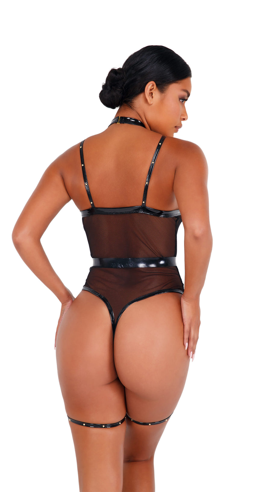 LI435 - 2pc Vinyl Strappy Bodysuit