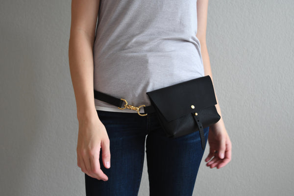 The Bogotá Hip Bag - Deep Black