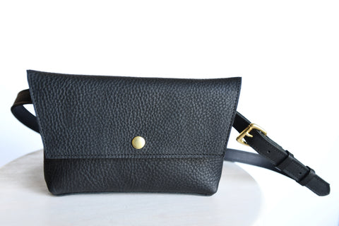 Hip Bag, Fanny Pack - Deep Black