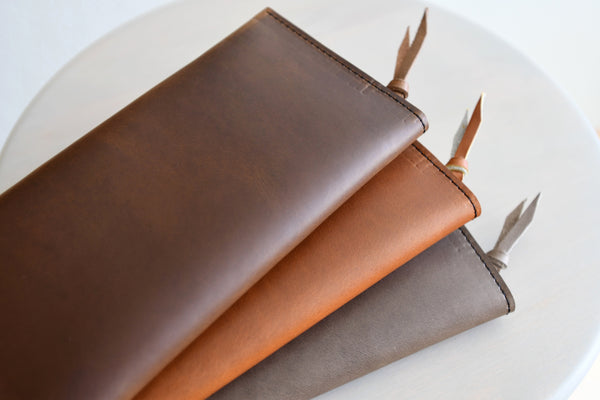 The Leather Phone Wallet in Aged Whiskey Horween Leather