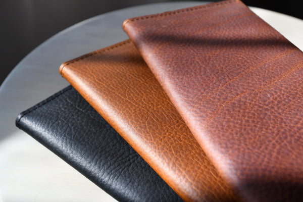 The Leather Phone Wallet in Wild Honey Kodiak Leather