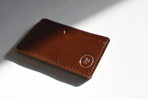 Minimal Wallet, the Kyoto - Oxblood Leather