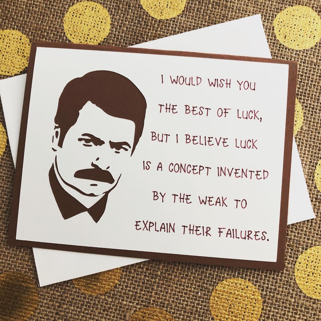 Ron Swanson - Wish You Luck