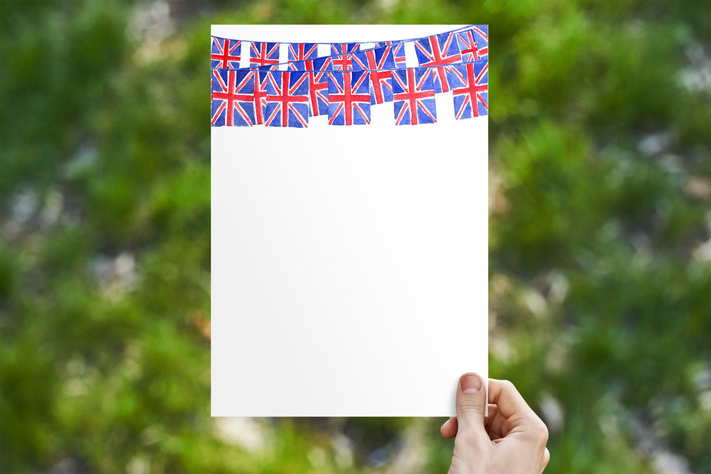 Union Jack Bunting 3 Swags Stationery