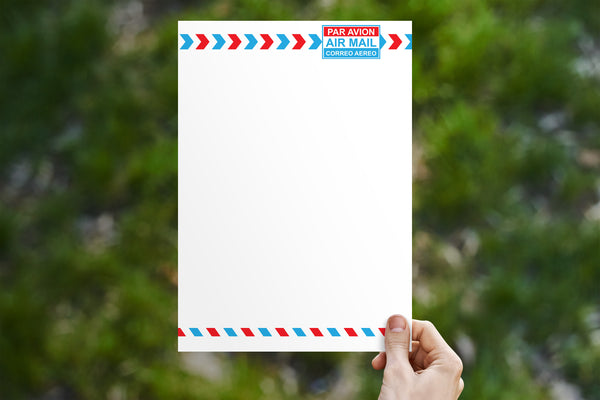 Airmail Stationery 7 Page Set