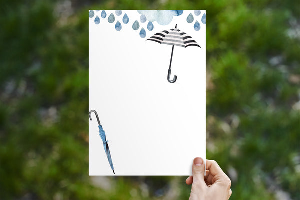 Rain & Umbrella Stationery