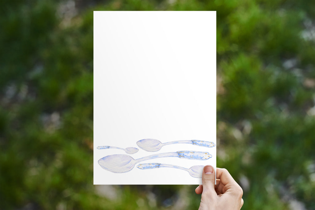 Blue Tea Spoon Stationery