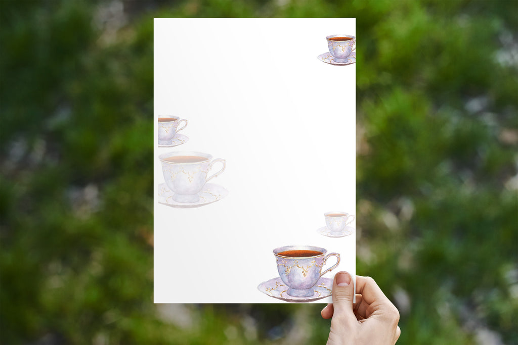 Antique Tea Cup Stationery