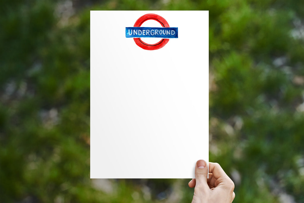 Underground Sign Stationery