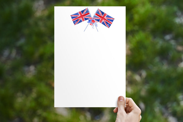 Union Jack Flag Stationery