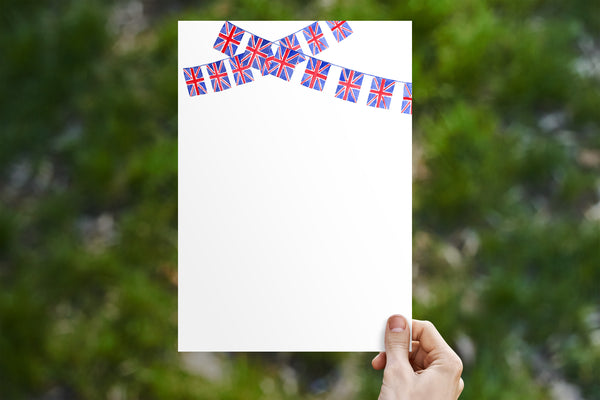 Union Jack Bunting 2 Swags Stationery