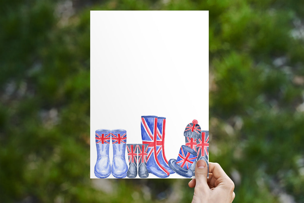 Union Jack Wellies Stationery