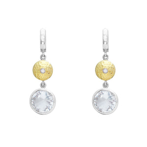 White Sapphire and Mountain Crystal Earrings