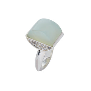 Green Onyx and Sapphire Dome Ring