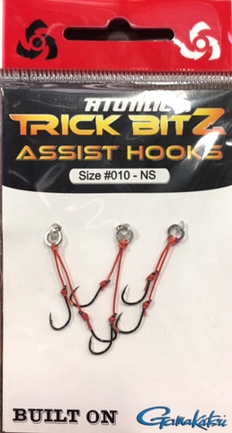 Atomic Trick Bitz Fishing Assist Hooks - No Skirt - Size 10