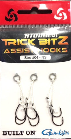 Atomic Trick Bitz Fishing Assist Hooks - No Skirt - Size 4