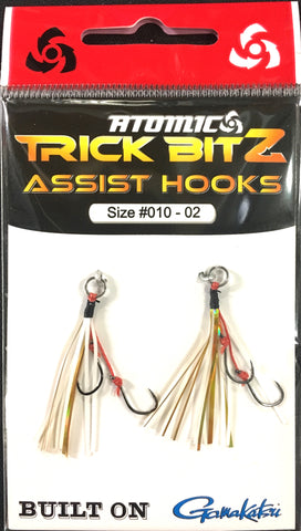 Atomic Trick Bitz Fishing Assist Hooks - Size 10 - 02 White Gold