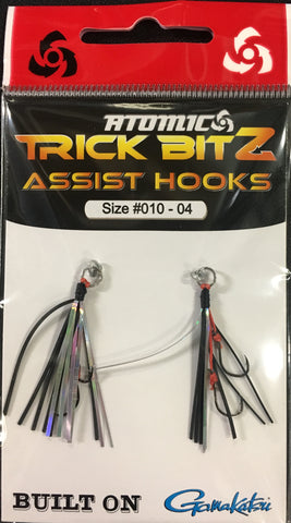Atomic Trick Bitz Fishing Assist Hooks - Size 10 - 04 Black Silver