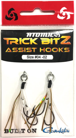 Atomic Trick Bitz Fishing Assist Hooks - Size 4 Colour - 02 White Gold Fleck