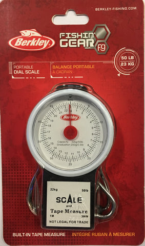 Berkley Portable Dial Scale With Tape 50lb (23kg) BTFST50