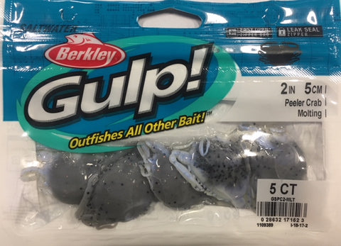 "Berkley Gulp Peeler Crab 2"" Soft Plastic - Colour Molting"