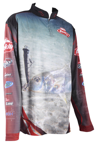 Berkley Pro SPF 30+ Tournament Fishing Shirt WHITING POPPER size Large