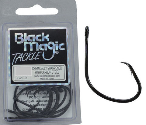 Black Magic KL Circle Hook - Size 1 Pocket Pack, 12 Pieces BMKL01S