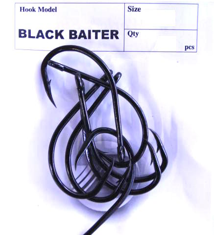 Daiichi Black Baiter Hook Pocket Pack - Size 4, 10 Pieces