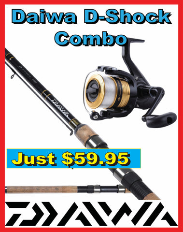 "Daiwa D Shock Rod & Reel Combo 6'6"" 6-14lb 2 piece F622mC"